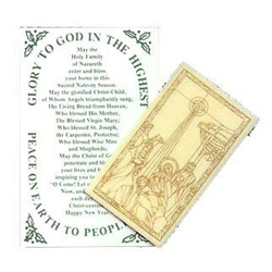 Perfect for mailing with Christmas Cards.  One white wafer printed with a Nativity scene in a clear envelope.  Enclosed leaflet with the history of custom on the inside.