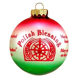 "Polish Blessing Ornament - Multi Color - May the land be fertile beneath your feet. May your days be gentle as the sun-kissed dew. May your hand be outstreached to all you meet. And may all men say ""Brother"" when they speak of you."