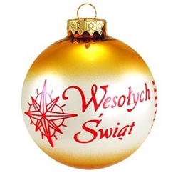 Polish Christmas Greeting - Wesolych Swiat Gold