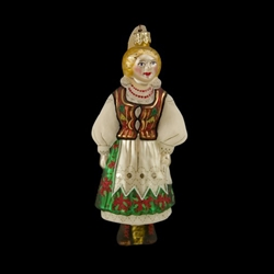Krakow - From the area around the city of Krakow in southern Poland this costume is the best known of all the folk regions and considered by many to be the national costume.