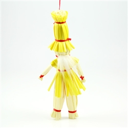 Decorate your home with a little bit of Polish folk art. These straw decorations are made entirely by hand by a single family from the Lublin area where ornaments made of straw is an old tradition.  Colors vary,