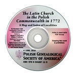 The maps and index of this CD identify approximately 6,500 parishes and branch churches of the Latin rite in Poland before the first partition in 1772. It also encompasses Silesia, Moldavia and the Duchy of Courland. Published 2010.