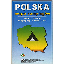 Highlights the locations of 220 camping sites. The reverse side features a grid of the facilities and services available at each site by town name in alphabetical order. Also includes 10 major city maps in greater detail.