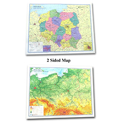 Map of Poland - Two sided