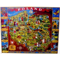 Legends of Poland Folklore Map Of Poland