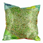 What a conversation piece! This fabulous stuffed pillow is made in Poland and features a detailed road map of Poland. Colors of the back material may vary.