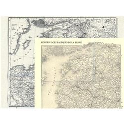 The Lithuania, Latvia & Estonia Map Group includes The Baltic States Map: 1845 and The Russian Baltic Provinces Map: 1914