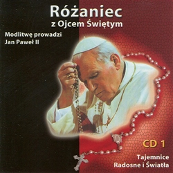 Two CD set of the praying of the rosary in Polish led by Pope John Paul II.