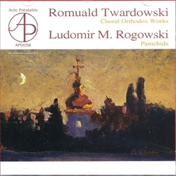 This record is a presentation of sacral music of two Polish composers - Romuald Twardowski and Ludomir M. Rogowski.  The above fact would not be extraordinary if the works were not...orthodox church music.