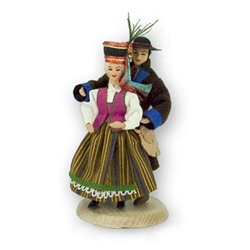 Polish Regional Doll: Kurpie (Northern) Couple / Kurpie Zielone