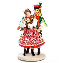 The Krakow costume is considered to be Poland's national folk costume and is certainly the best known.  Whether you're adding to a collection or just starting one out. These dolls are perfect, clothed in authentic regional folk costumes.