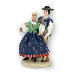 Polish Regional Doll: Goral Szczawnicka Couple