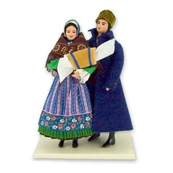 Polish Regional Doll: Pyrzycka Couple - Medium Size
