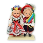 This pair of dolls, dressed in Krakowiak outfits, wonderfully crafted and fun to look at.