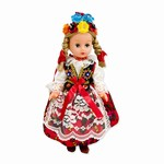 This beautiful doll dressed in a handmade traditional Krakowiak outfit, is made of plastic with movable arms and legs (not the joints).