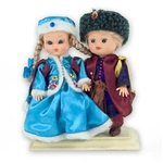 17th Century Noble Pair Baby Style Dolls - Small - This pair of dolls, dressed in a traditional 17th Century Noble's outfits, wonderfully crafted and fun to collect.