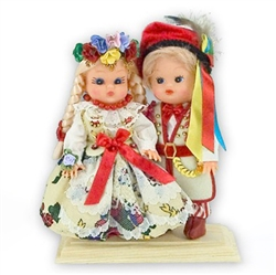 Krakow Wedding Pair Baby Style Dolls - Small