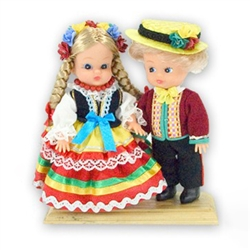 Lublin Pair Baby Style Dolls - Small
