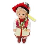 This doll, dressed in a traditional Krakow wedding outfit, wonderfully crafted and fun to collect.