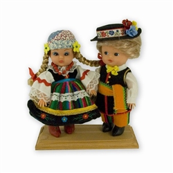 Lowicz Pair Baby Style Dolls - Small