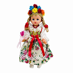 This doll, dressed in a handmade traditional Krakow wedding outfit, wonderfully crafted and fun to collect.