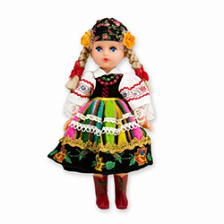 This doll, dressed in a handmade traditional Lowicz outfit, wonderfully crafted and fun to collect.