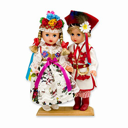 Krakow Wedding Pair Baby Style Dolls - Large