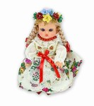 This doll, dressed in traditional Krakow wedding outfits, wonderfully crafted and fun to collect.