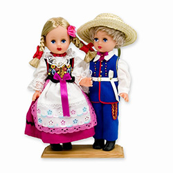Rzeszow Pair Baby Style Dolls - Large