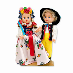 Slask Pair Baby Style Dolls - Large