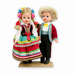 Lublin Pair Baby Style Dolls - Large