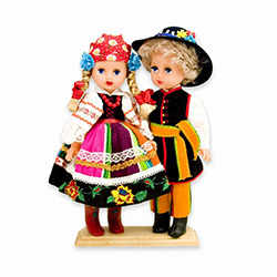 Lowicz Pair Baby Style Dolls - Large