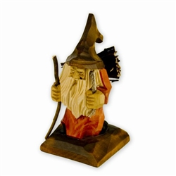 "Polish gnomes ,""Krasnoludki"", have been popularized in Polish children's fairytales for many years. Authors Jan Brzecha and Maria Konopnicka immediately come to mind.  This beautiful hand carved Krasnal is on his way back home from gathering kindling."