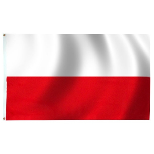 Polish Art Center Poland Flag Without Eagle With