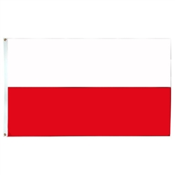 Fly your flag high, but why not complement it with a Polish flag and pay tribute to your Polish heritage. Made for outdoor use.