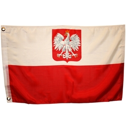 Poland Boat Flag With Eagle, With Grommets