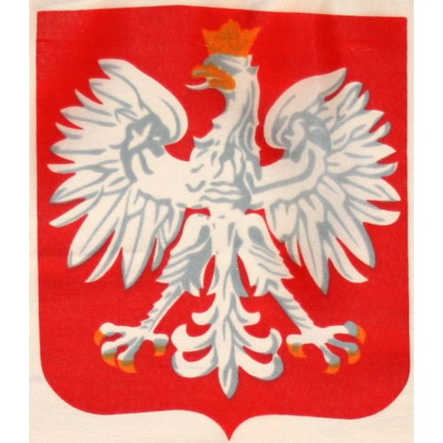 Polish Art Center Poland Flag With Eagle With Grommets