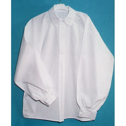 Polish Art Center - Krakow Men's White cotton shirt with embroidery