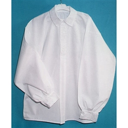 Krakow Men's White cotton shirt with embroidery