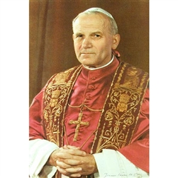 The photo used for this picture was taken shortly after Karol Wojtyla became Pope.