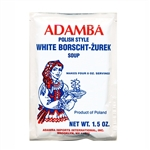 Adamba Polish Style White Borsch-Zurek Soup is delicious and easy to make.  Instructions in Polish and English.