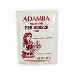 Adamba Polish Style Red Borsch Soup is easy to make.  Instructions in Polish and English