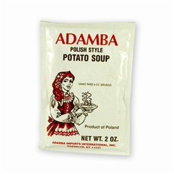 Adamba Polish Style Potato Soup is delicious and easy to make.  Instructions in Polish and English.