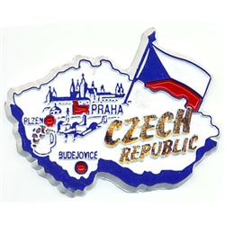 Map of Czech Republic Magnet