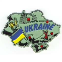 Map of Ukraine Magnet