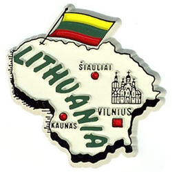 Map of Lithuania Magnet