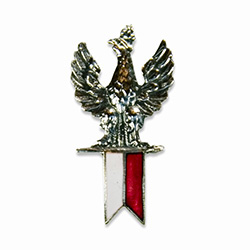 Polish Eagle with Banner Lapel Pin