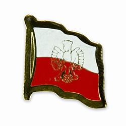 Polish Flag Pin with Eagle Lapel Pin