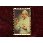 Pope John Paul II Stamp Lapel Pin