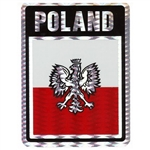 Poland (Black/Red and White Metalic) Decal